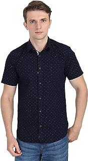 Carbonn Blue Men Blue Half Sleeves Polka Print Shirt