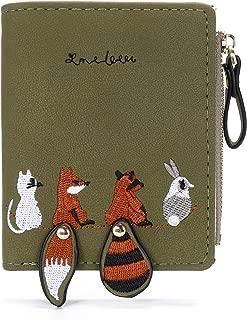 SANSARYA Small Mini Women Wallets Animal Card Holder Cute Squirrel Coin Purse