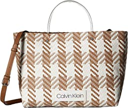 Morgan Woven Novelty Medium Tote