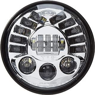 J.W. Speaker 0555031 Model 8790 LED High and Low Beam Adaptive Headlight with Chrome Inner Bezel