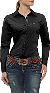 women's fitted poplin shirt