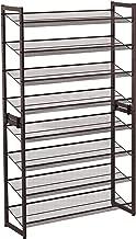 SONGMICS 8-Tier Shoe Rack, Set of 2 Stackable 4-Tier Shoe Organizers, Adjustable Flat or Angled Shelves, Bronze ULMR08A