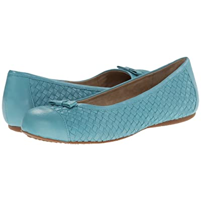 SoftWalk Naperville (Ocean Blue Woven Soft Nappa Leather) Women