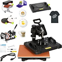 "Smartxchoices Pro 5 in 1 Heat Press Machine Combo 360-degree Rotation 12"" x 15"" Swing Away Digital Sublimation Heat Transf..."