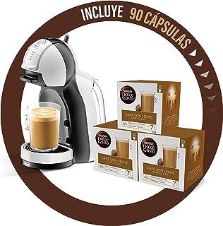 De'Longhi Dolce Gusto Mini Me EDG305.WB - Cafetera de cápsulas + Nescafé Dolce Gusto Magnum Café con Leche - Cápsulas de Café - 3 x 30 - 90 Cápsulas