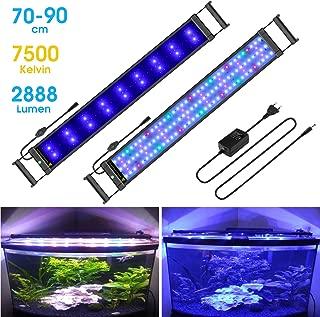 iluminaci/ón de acuario automatizada 24//7 30-50 CM colores RGB NO.17 Luz de acuario LED 11W Pantalla LED Acuario con Control Remoto y soportes extensibles