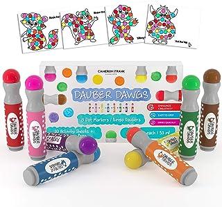 8-pack Washable Dot Markers / Bingo Daubers Dabbers Dauber Dawgs Kids / Toddlers / Preschool / Children Art Supply 3 Pdf C...