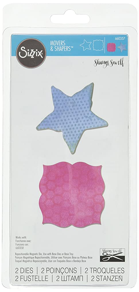 Sizzix Movers and Shapers Magnetic Die Set, Label and Starfish by Sharyn Sowell (2 Pack)