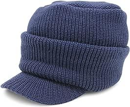 ニット帽 つば付き メンズ 帽子 ニットキャップ 秋冬 防寒 CASTANO
