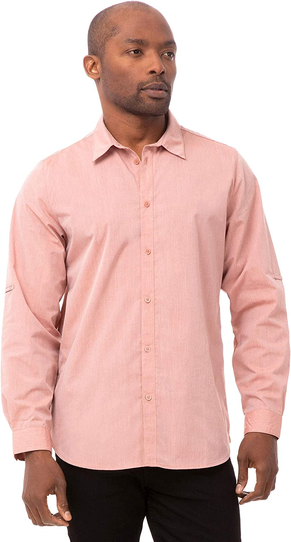 Chef Works Men's Modern Chambray Dress Shirt