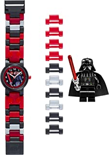 LEGO Star Wars 8020301 Darth Vader Kids Buildable Watch with Link Bracelet and Minifigure
