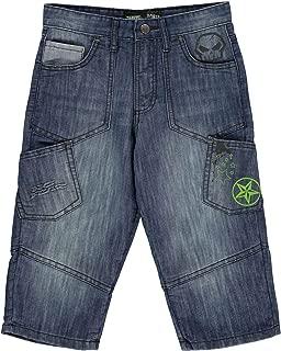 Denim Cargo Shorts Juniors Mid Wash Skate Clothing Short Pants Bottoms