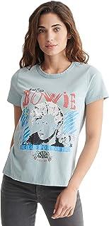 Lucky Brand Women's Short Sleeve Crew Neck Bowie 1987 Tour Classic Tee