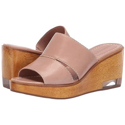 Bernardo Kara Wedge Sandal (Blush Antique Calf) Women