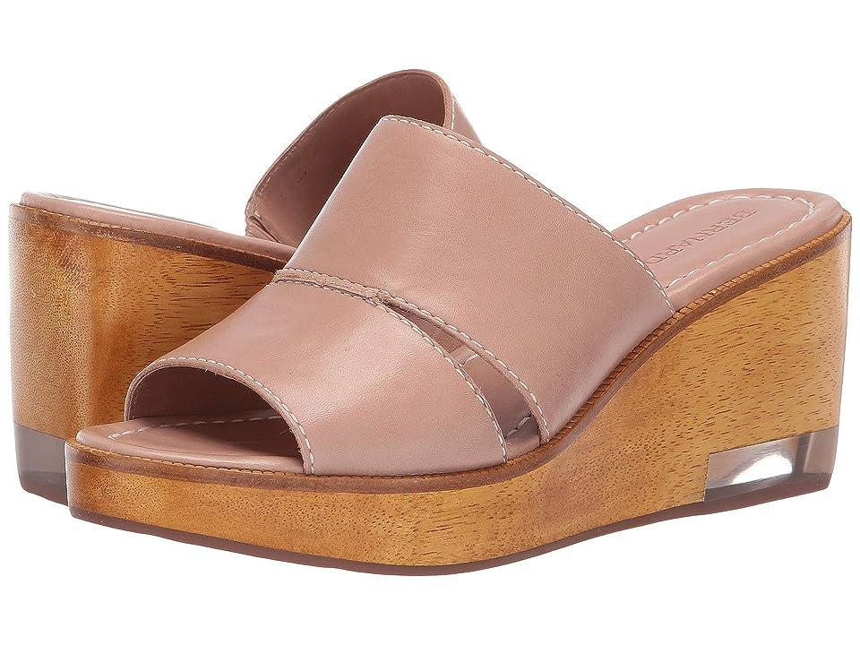 Image of Bernardo Kara Wedge Sandal (Blush Antique Calf) Women's Wedge Shoes