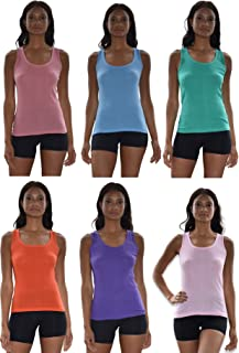 Sexy Basics Tank Tops for Women, 6 Pack & 12 Pack Cotton -Flex Tank Tops