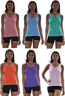Tank Tops for Women, 6 Pack & 12 Pack Cotton -Flex Tank Tops