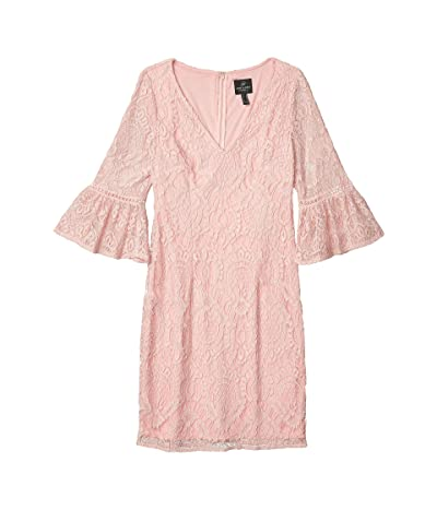 Adrianna Papell Milan Lace Sheath Dress (Pink Conch) Women