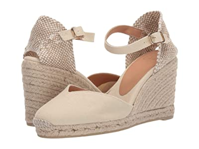 CASTANER Chiarita 80mm Wedge Espadrille (Ivory) Women