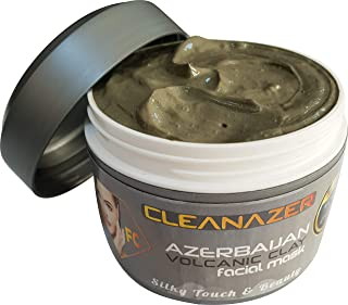 Cleanazer Volcanic Clay Mask of Azerbaijan -%100 Natural & Organic Face Mask - Best for Facial Healing & All Body Skin 8FLOz/236Gr/0.51lbs - The Best Mud Clay Mask in the world from Azerbaijan