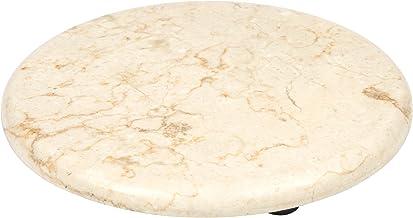 "Creative Home Genuine Champagne Marble Stone 8"" Trivet Serving Board, Beige"