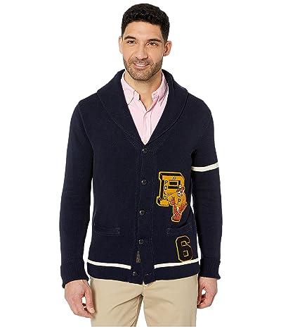 Polo Ralph Lauren Grays Hall Shawl Cardigan (Hunter Navy/Andover Cream) Men