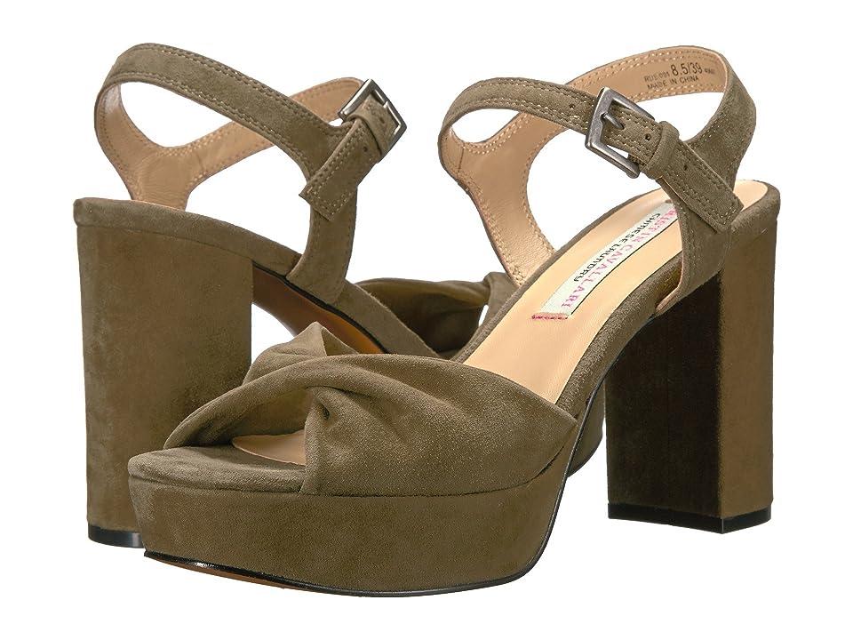 Kristin Cavallari Ryne Platform Sandal (Olive Kid Suede) Women