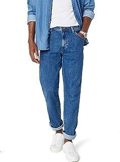 Wrangler Men's Jeans Durable Stretch - Regular Fit - Black - Rinsewash - Darkstone - Stonewash - Dark Stonewash