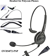 Polycom SoundPoint and Allworx IP Phones Compatible Call Center Headset