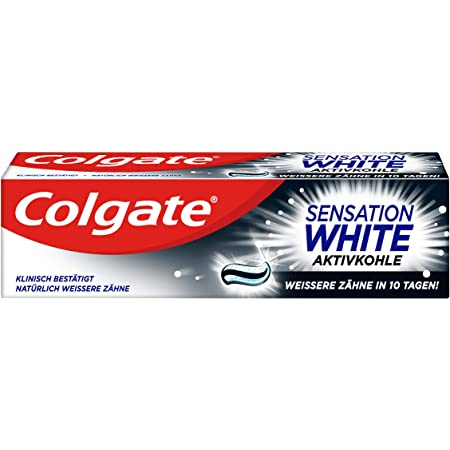 Colgate Sensation White Activated Charcoal Toothpaste 75ml Amazon De Drogerie Körperpflege