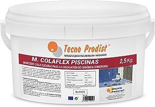 comprar comparacion M-COLAFLEX PISCINAS de Tecno Prodist – (2,5 kg) Adhesivo cementoso mejorado flexible ideal para la colocación de baldosas ...