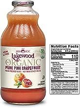 Lakewood Organic PURE Pink Grapefruit Juice, 32-Ounce Bottles (Pack of 6)