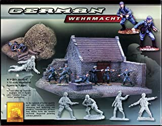 Conte World War II German Wehrmacht Set #1 - 16 Highly Detailed 1/32 Scale Plastic Toy Soldiers