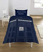 Doctor Who Classic Tardis Panel UK Single/Us Twin Bed Duvet Quilt Cover Set