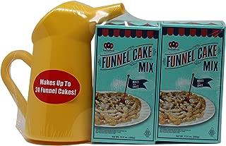 Carnival Funnel Cake Maker Mix 2 Pack & Pitcher Set