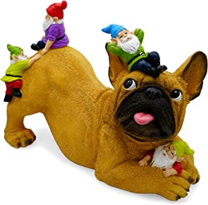 Zacotaco Dog Garden Gonmes Statue Outdoor Decor,Dog Gnome Garden Figurine for Patio,Lawn,Yard,Best Art Decor for Indoor Outdoor Home or Office