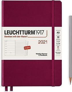 ロイヒトトゥルム 手帳 2021年 1月始まり A5 ウィークリー ポートレッド 361844