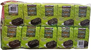 Kirkland Signature Organic Roasted Seaweed Snack Pack of 40 (0.6 Ounces each)