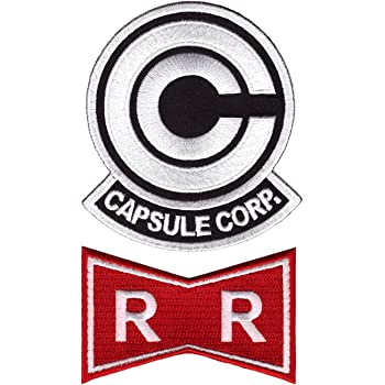 Red Ribbon Patch Iron on Set of 2 /Écusson Brod/é Thermocollant Patch Dragon Ball Z Capsule Corp Titan One Europe