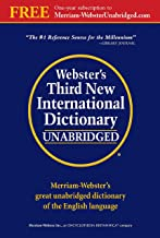 Webster's Third New International Dictionary of the English Language