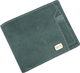 Hammonds Flycatcher Light Turquoise Vintage Leather Wallet for Men|6 Card Slots| 1 Coin Pocket|2 Hidden Compartment|2 Currency Slots|1 ID Compartment