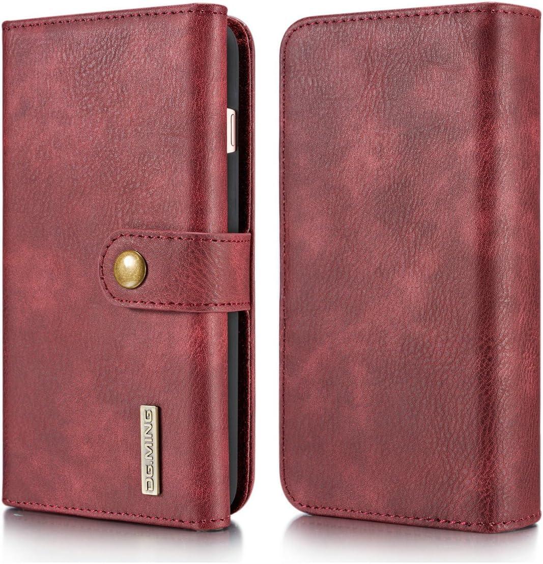 Black DG.MING Vintage Genuine Cowhide Leather Folio Flip Wallet ...