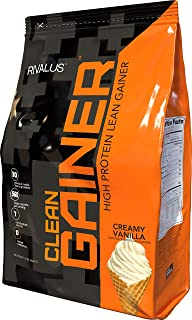 Rivalus Clean Gainer - Smooth Vanilla  10 Pound   -  Delicious Lean Mass Gainer with Premium Dairy Proteins, Complex Carbohydrates, and Quality Lipids, No Banned Substances, Made in USA