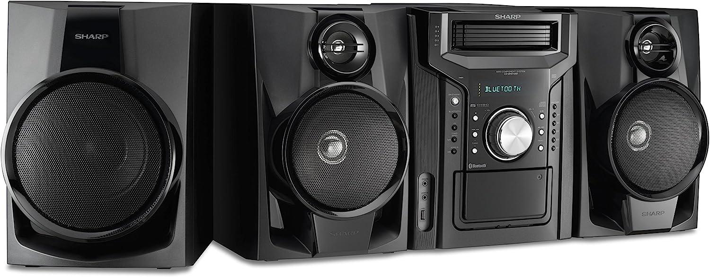 Ranking TOP2 Sharp CD-BHS1050 350W 5-Disc Mini Shelf System Subwoofer Time sale Speaker