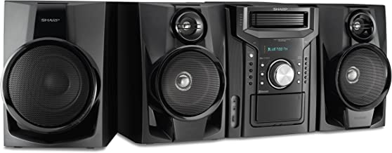 Sharp CD-BHS1050 350W 5-Disc Mini Shelf Speaker/Subwoofer System with Cassette and..