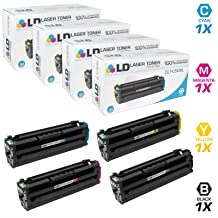 LD Compatible Toner Cartridge Replacement for Samsung CLP-680 & CLX-6260 High Yield (Black, Cyan, Magenta, Yellow, 4-Pack)