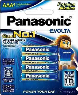 Panasonic AAA Evolta Alkaline Batteries (LR03EG/4B), 4 Pack