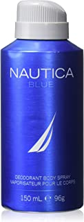NAUTICA Deodorant Body Spray for Men, Blue, 5 Ounce