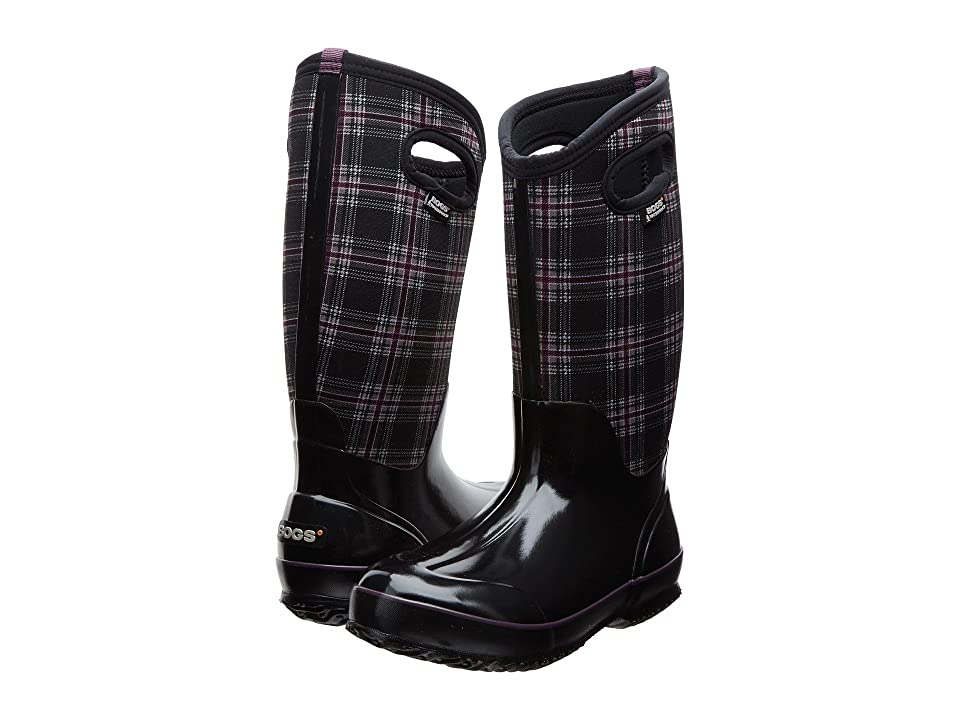 Bogs Classic Winter Plaid Tall (Black Multi) Women's Shoes