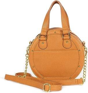 Dolce Vita Women's Vegan Leather Circle Crossbody Handbag Purse